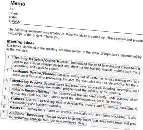 Friday Freebie: Memo Template to Share Goals and Feedback
