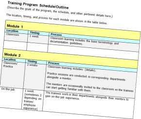 Friday Freebie: Training Program Schedule/Outline