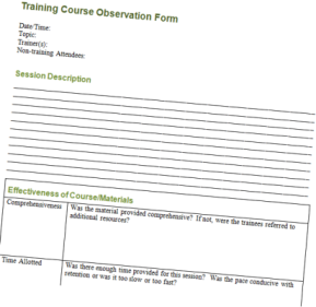 Friday Freebie: Template for Evaluating a Training Program